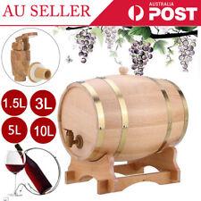 1.5L/3L/5L/10L Oak Timber Wine Barrel Beer Whiskey Rum Brewing Port Keg Home Bar