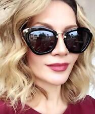 LUX Cat EYE Square Gold Arms NOIR Fashion Glasses Big Aviator L Sunglasses 2019