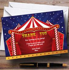 Carpa De Circo Personalizado Fiesta De Cumpleaños Tarjetas De Agradecimiento