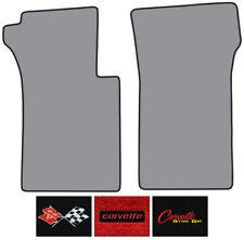 1963-1967 Chevrolet Corvette Loop Carpet Logo Floor Mat 2pc