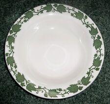 Vtg Royal China English Green Ivy Trimmed Rimmed Vegetable Serving Bowl