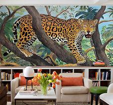 3D Geäst Leopard Fototapeten Wandbild Fototapete Bild Tapete Familie Kinder887