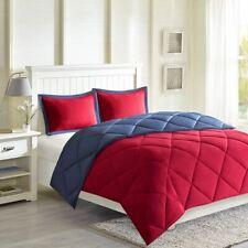 Luxury Red & Blue Microfiber Down Alternative Comforter AND Decorative Shams