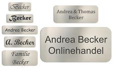 Edelstahl V2A Türschild Namensschild Briefkastenschild Klingelschild mit Gravur