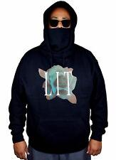 Men's Lit Blue Rose Mask Hoodie Love Flower Rare Symbol Unique Sweater Jacket