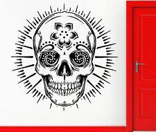 Skull Happy Hippie Scary Creepy  Decor Wall Stickers Vinyl Decal (z2269)