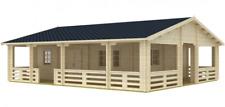 Blockhaus Riopas 70-Iso 10,04x8,87m Ferienhaus Wochenendhaus 85,3m² mit Terrasse