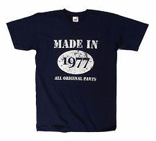 MADE in 1977 tutte le parti originali T Shirt, 40th. Regalo Compleanno Idea
