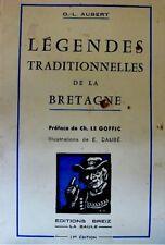 AUBERT legendes traditionnelles de la bretagne 1974++