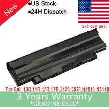 Battery For Dell Inspiron 13R 14R 15R 17R 3420 3520 N4010 N5110 N5010 N7110 /PSU