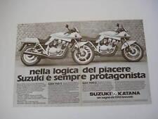 advertising Pubblicità 1982 MOTO SUZUKI GSX 750/1100 S
