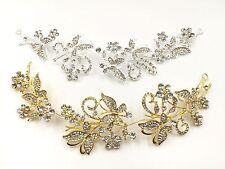 Stunning Crystal Pearls Flower Hair Wedding Bridal Headband Comb Hairpin Clips