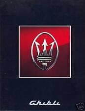 Maserati Ghibli (Biturbo type) multi-language sales brochure A