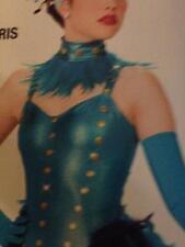 Jazz Dance Costume Tap Showgirl Artstone Girl Women Purple Turquoise Ahh Paris