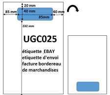 étiquette d'expédition ebay pour facture et bordereau de marchandise ebay