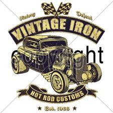 Hot Rod Vintage Iron Rat Rod Cotton Car T-shirt Sizes Small to XXXXXL