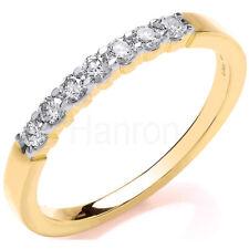 9CT HALLMARKED YELLOW GOLD 0.25 CTS H SI DIAMOND HALF ETERNITY RING