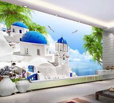3D Exquisite Castle Sea Paper Wall Print Decal Wall Wall Murals AJ WALLPAPER GB