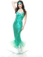 Adults Womens Sexy Tight Emerald Green Fantasy Mermaid Costume