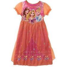 Disney Princess Rapunzel Belle Short Sleeve Nightgown Pajama Girl Size 7/8