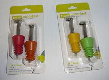 Lot True Fabrications ColorFast Pourer Pour rubber Wine Liquor Bottle