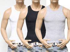 New Mens Lot 3-6 Pcs Tank Top 100% Cotton A-Shirt Wife Beater Ribbed Undershirt