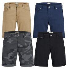 JACK & JONES Rick Mens Stretch Shorts Cotton Summer Half Pants Smart Chino Short