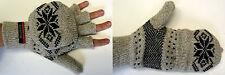 NWT Men's Thermal Insulation Knit Fingerless Mitten Winter Glove Texting NEW!