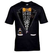 Halloween Novelty Creepy Skeleton Tuxedo Tux mens t-shirt Costume Fancy Dress