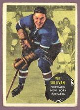 1961 62 TOPPS HOCKEY 48 RED SULLIVAN N Y RANGER CARD