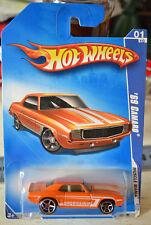 2009 Hot Wheels '69 Chevy Camaro Muscle Mania # 77  NEW