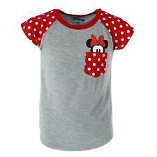 New Disney Youth Minnie Mouse Peeking Pocket Tee Shirt