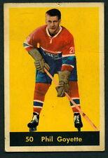 1960 61 PARKHURST HOCKEY 50 PHIL GOYETTE VG-EX MONTREAL CANADIENS CARD