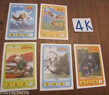 5 Figurina figurine carta carte esselunga eroi dreamworks NUOVE 39 49 51 130 134