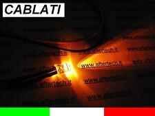 10 LED NARANJA 5mm 8.000 mcd ATADO CON ALAMBRE 30cm RESISTENCIA 12v CABLE