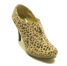 Style&co Leopard Faux Fur Ankle Boots WEBB Women's Shoes Sz 9.5
