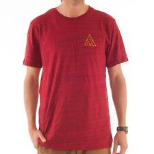 HUF Streaky Wash té t-shirt camisa a rayas rojo triángulo triángulo ts51051 red