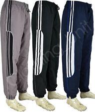 J6 Mens Tracksuit Bottoms Stripe Jogging Trousers Sport Gym S-2XL