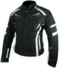 Heyberry Damen Motorrad Jacke Motorradjacke Textil Schwarz Weiß Gr.S M L XL XXL