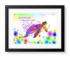 Uhomate Colorful Sea Turtle Sea Animal Poster Art Print Nursery Wall Decor C056