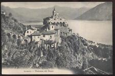 Postcard LOCARNO SWITZERLAND  Madonna Del Sasso Church 1905?