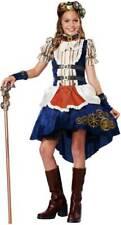 Steampunk Fashion Tween Girl Costume Dress Pettskirt Glove Choker Goggles Broach
