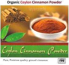 Pure Organic Ceylon CINNAMON POWDER Packets ALBA GRADE # ( cinnamonium verum)