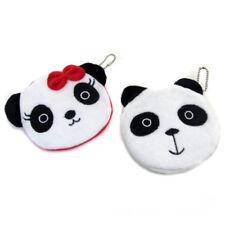 Cartoon Panda Women Plush Coin Purse Mini Wallet Zip Change Pouch Handbag S