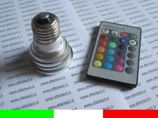 E27 LAMPADINA FARETTO SPOT RGB CAMBIACOLORE 220V 3W