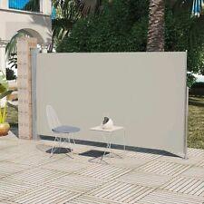 vidaXL Uittrekbaar Wind-/Zonnescherm 160x300 cm Crème Windscherm Privacy Doek