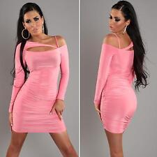 Womens Sexy One Shoulder Bodycon Asymmetric Party Mini Dress size 8 10