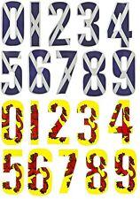 Weather Proof Wheelie Bin Numeri Casa # Adesivo scozia scozzese bandiera a tema