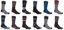 Para Hombre Calor titulares con estampado de toque cálido Térmica calcetines, 10 Colores, 6-11 Reino Unido