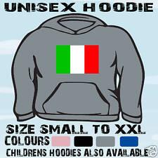 Italia Bandera Italiana Emblema Unisex sudadera con capucha Top